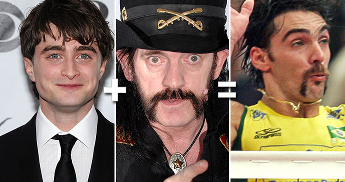 Fotos: Daniel Radcliffe: Getty Images/Lemmy: Getty Images/Giba: AFP