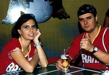 Lidia Brondi no Camarote Brahma (Carnaval 2002) - Foto: Zulmair Rocha