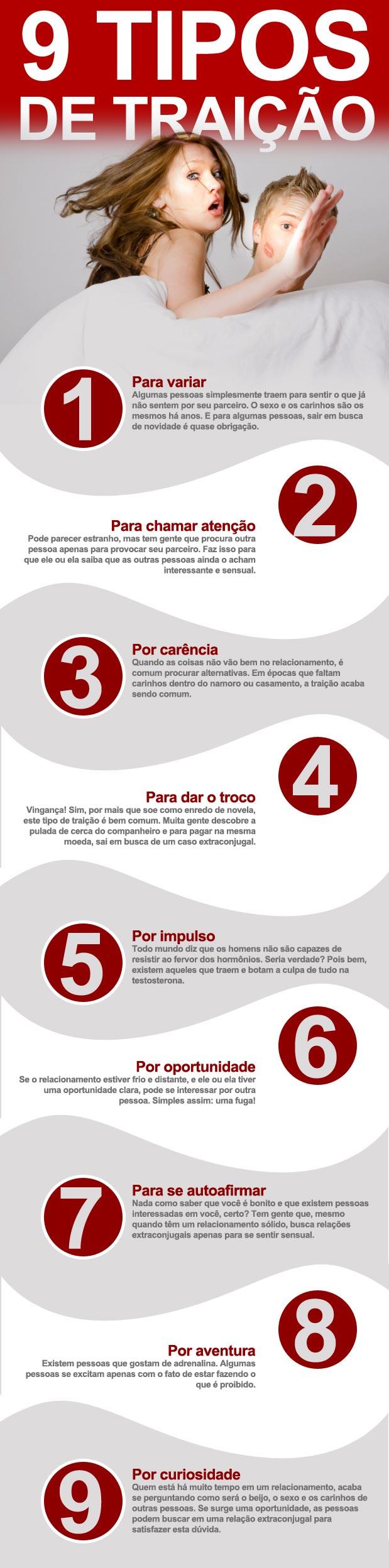 9 tipos de traição