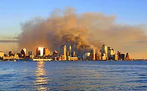 Nova York em chamas (Foto: AP)