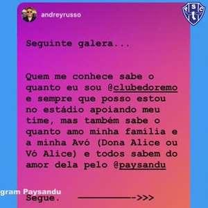 #StayAtHome: Atacante do Paysandu, Nicolas manda ...