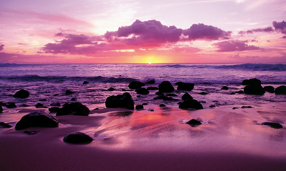 wallpaper beach sunset