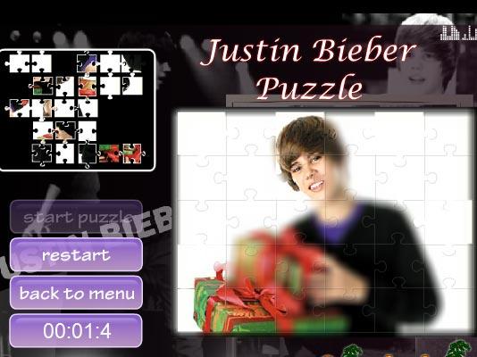 Justin Bieber puzzle Jogos Online Games Terra